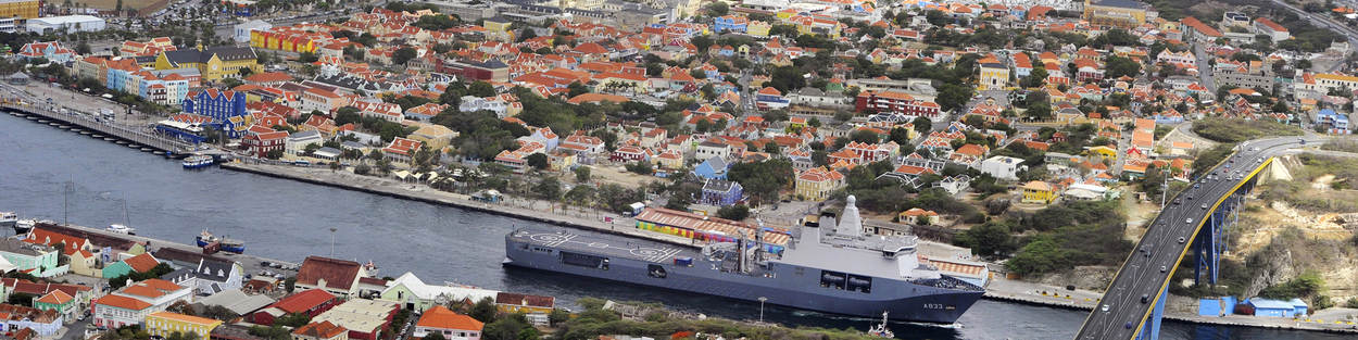 HNLMS Karel Doorman in the Caribbean.