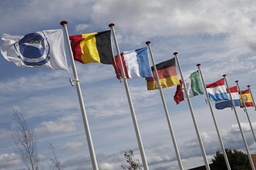 Flags participating countries.