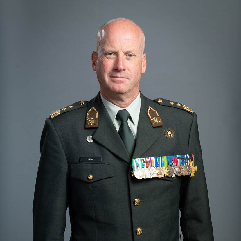 Commander of the Royal Netherlands Army Lieutenant General Martin Wijnen.