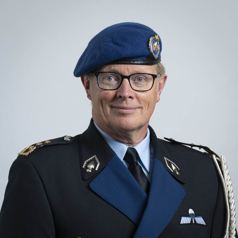 Commander of the Royal Netherlands Marechaussee Lieutenant General Hans Leijtens.
