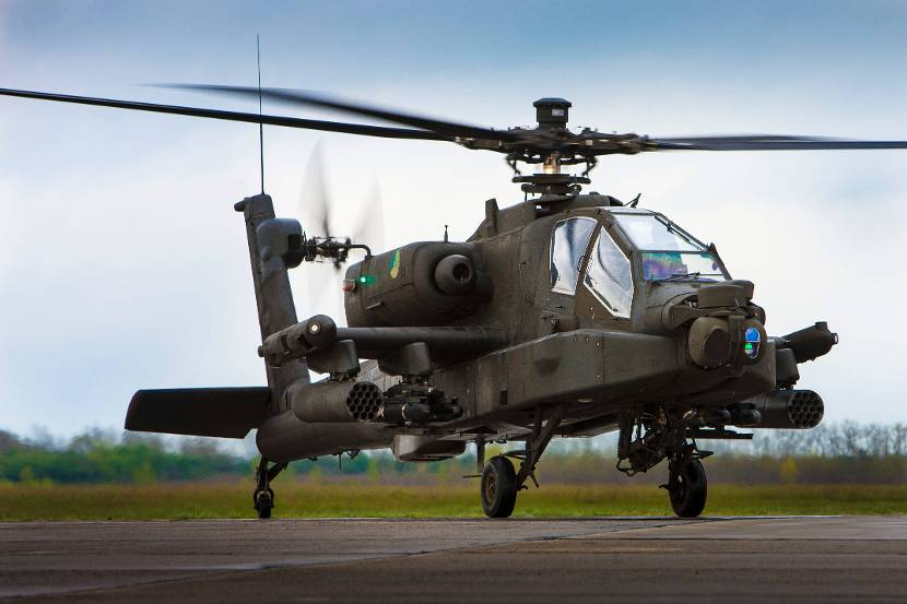Apache AH-64D attack helicopter.