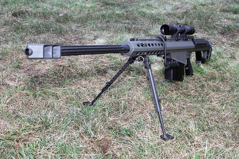 Barrett anti-materiel rifle (12.7mm).