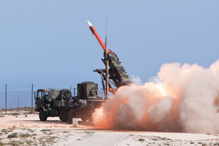 Launch of Patriot PAC II air defense missile.