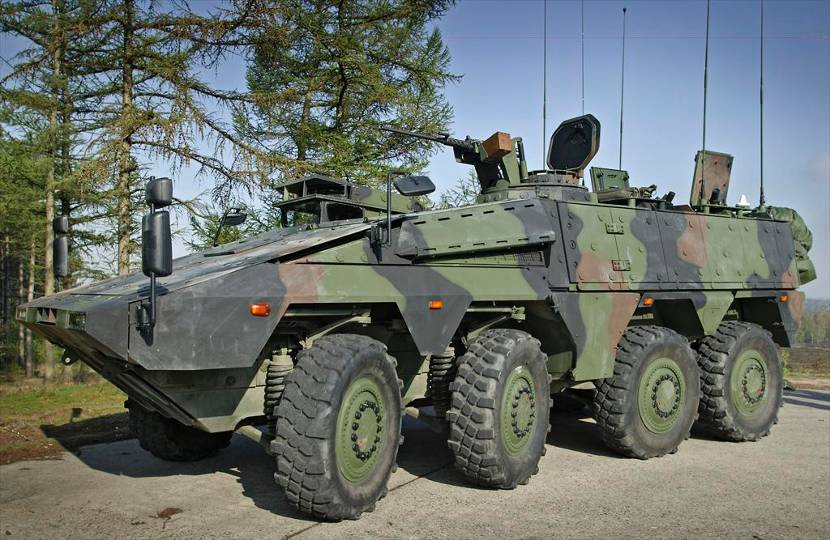 Boxer armoured vehicle.