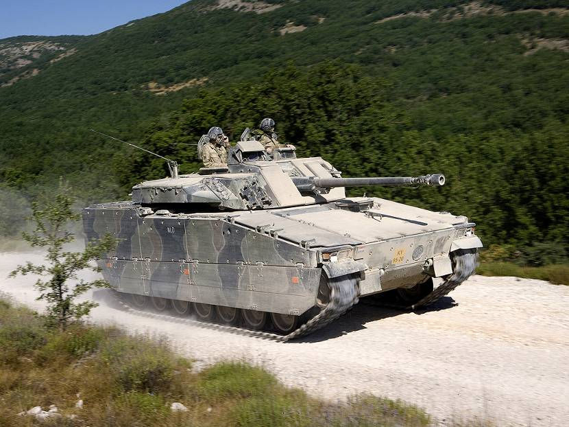 CV90 infantry fighting vehicle.