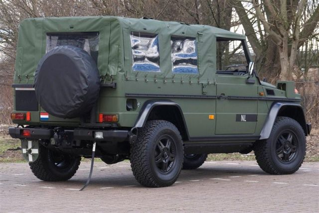 Mercedes-Benz G280 CDI soft top off-road vehicle.