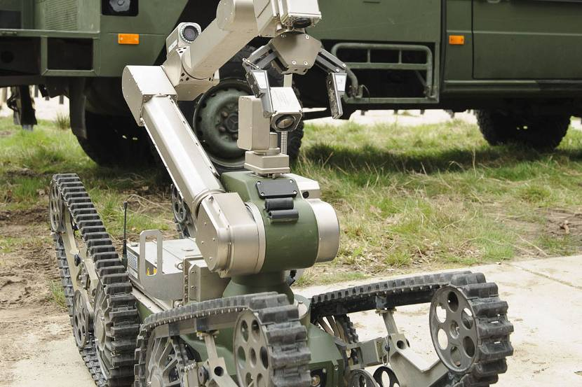 The Telemax EOD-robot (explosive ordnance disposal).