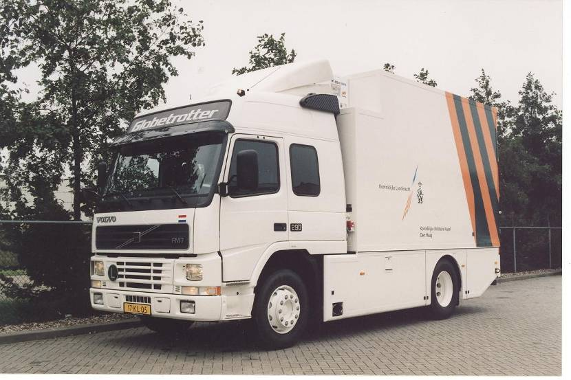Volvo FM7 instrument transportation vehicle.