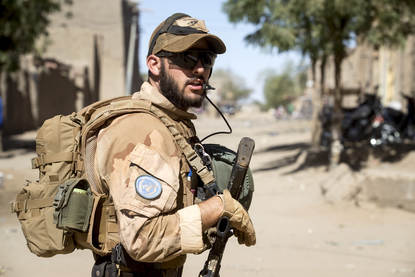 Dutch soldier in Mali.